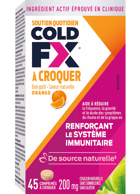Cold-FX À Croquer Orange, 45 capsules
