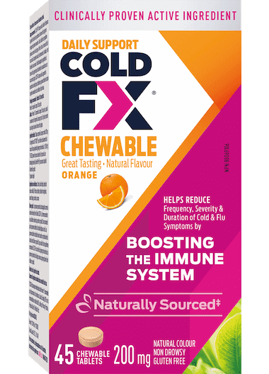 Cold-FX Chewable Orange, 45 capsules