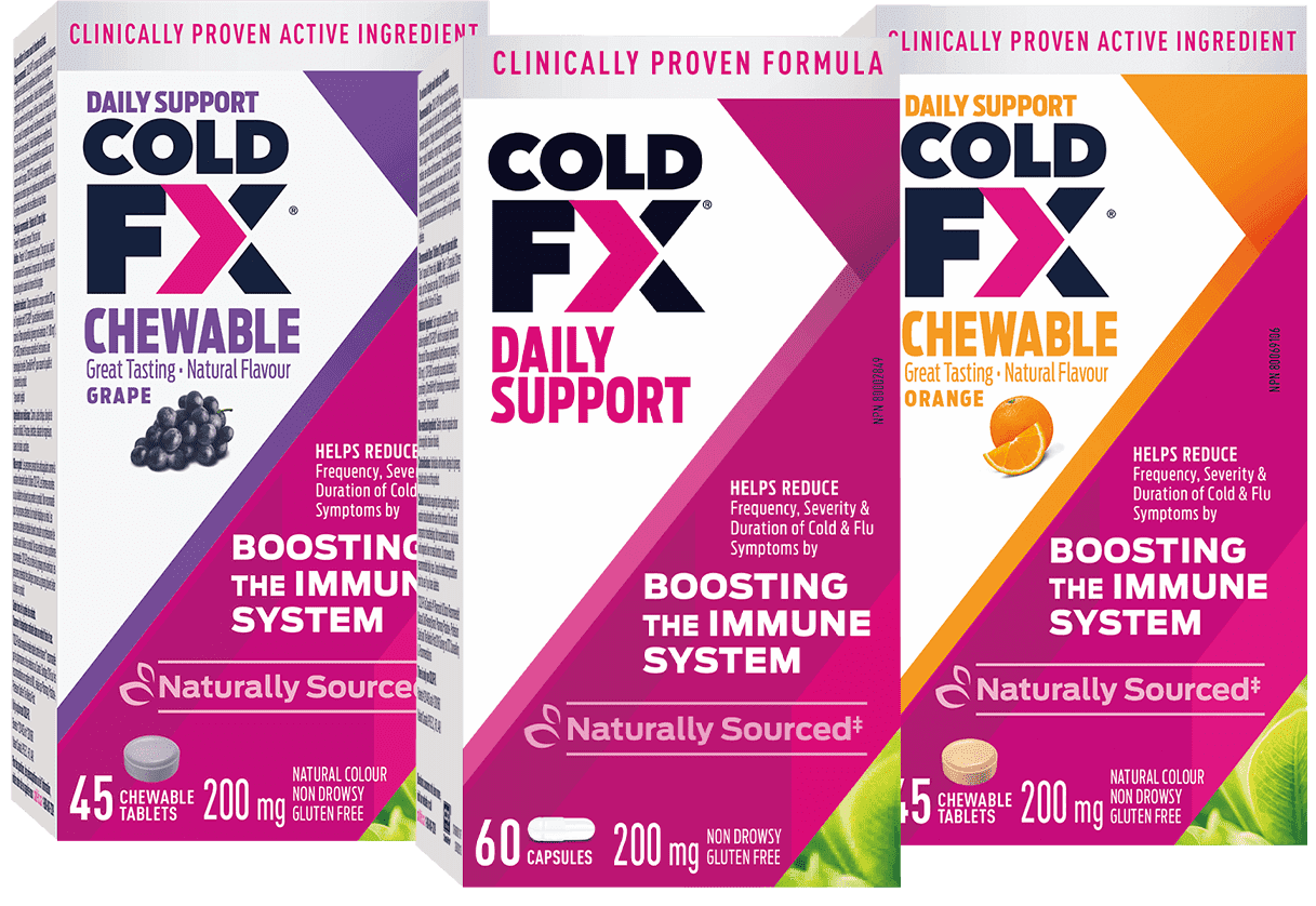 Cold-FX Chewable Grape, Daily Support, Chewable Orange