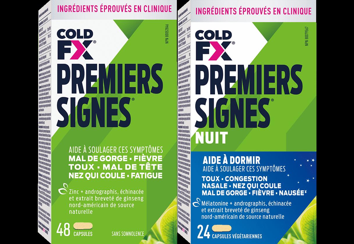 Cold-FX Premiers Signes, 48 & 24 capsules