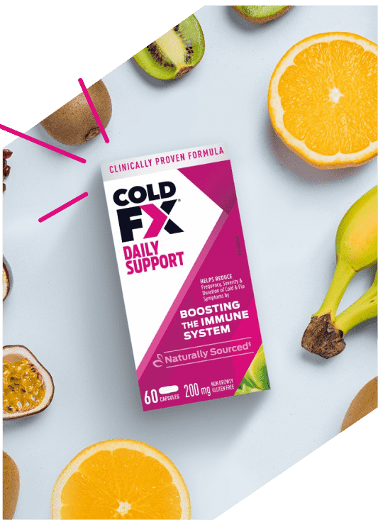 Cold-FX Daily Support, 60 capsules and fruit